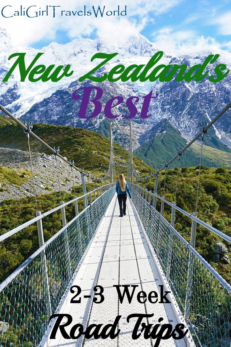 Pin New Zealand's best 2-3 week road trips