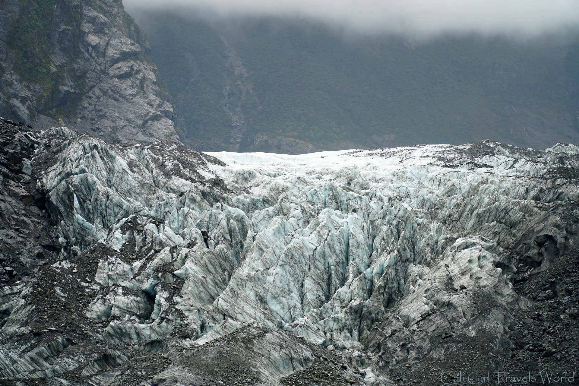 The stunning glacier of Franz Josef on the Wild West Coast of South Island, New Zealand