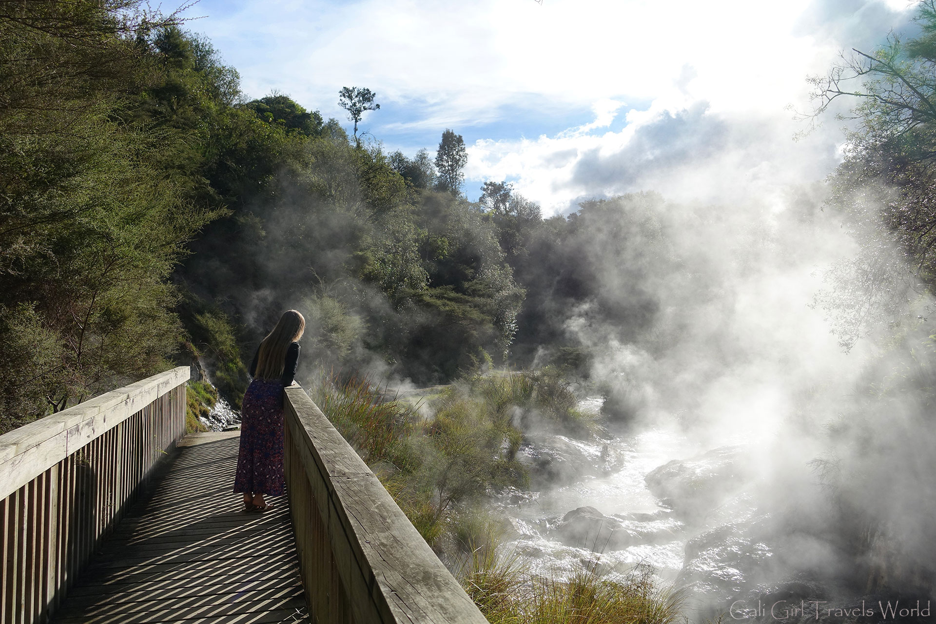 Exploring the wonders of Waimangu Geothermal site near Rotorua in New Zealand's North Island.