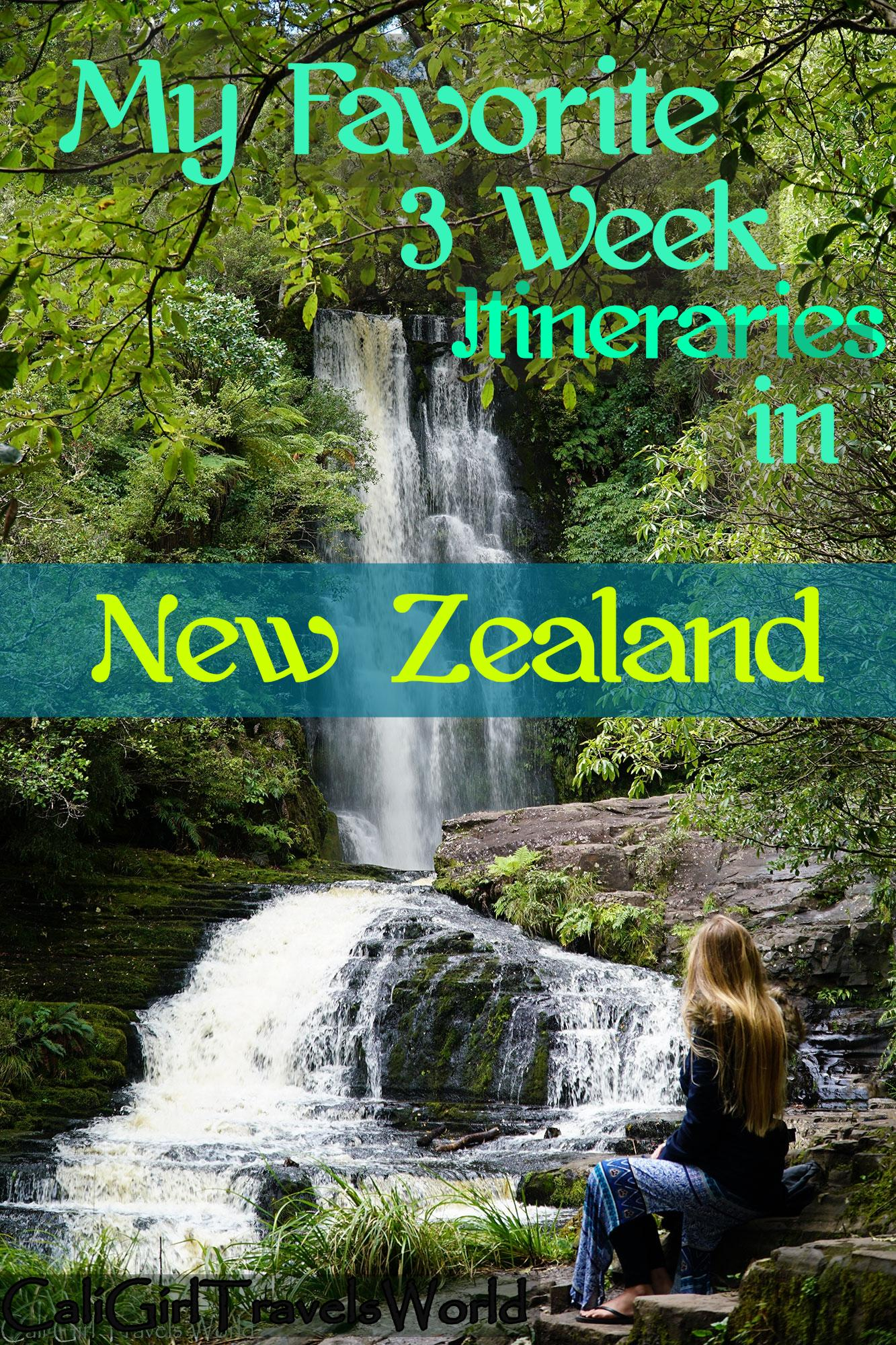 Pin My favorite 3 week itineraries in New Zealand