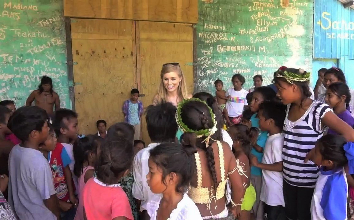 Teaching the children on a remote island in the South Pacific games I learned growing up in the States.