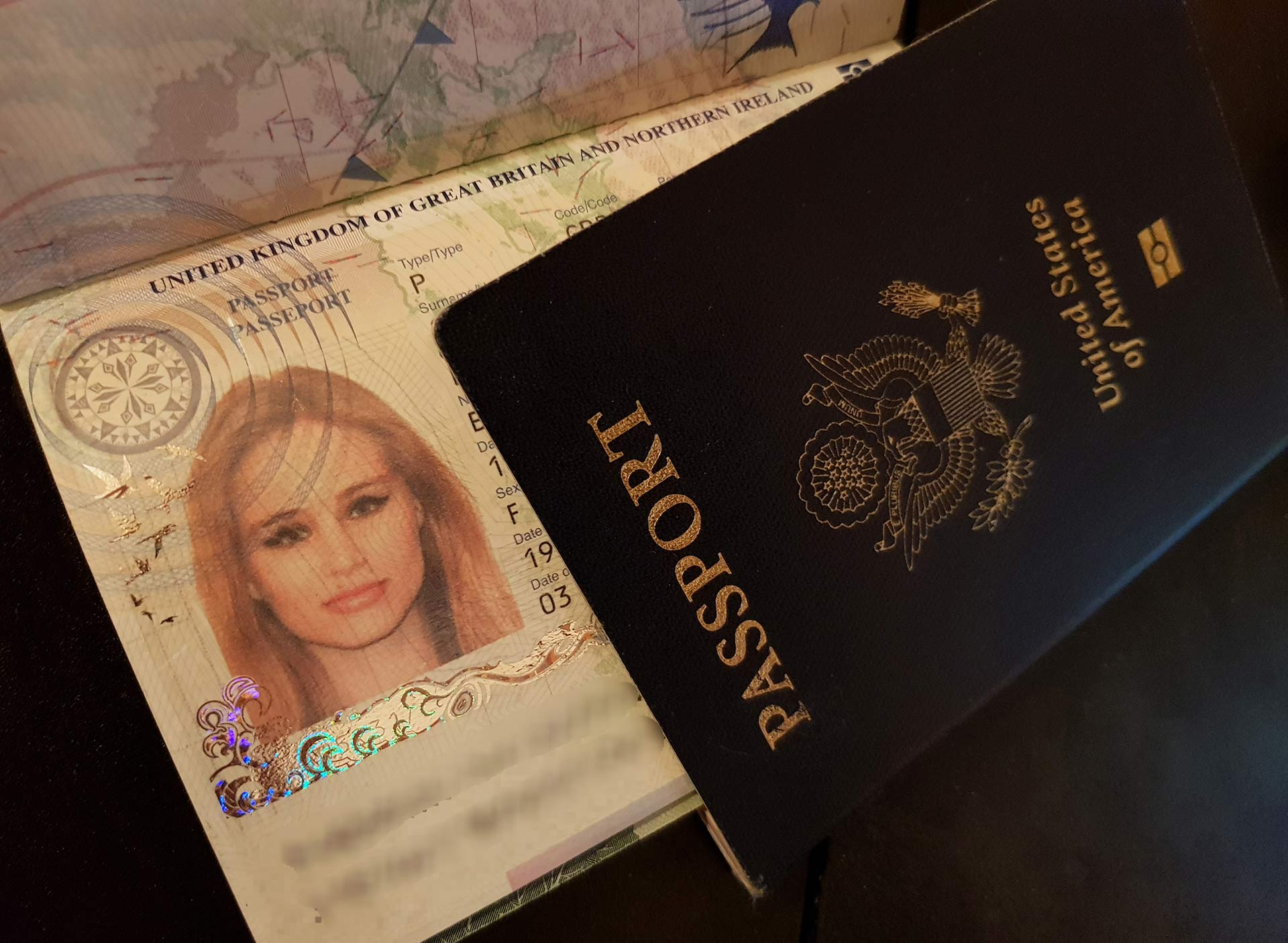 Travel Blogger passport used to travel the world.