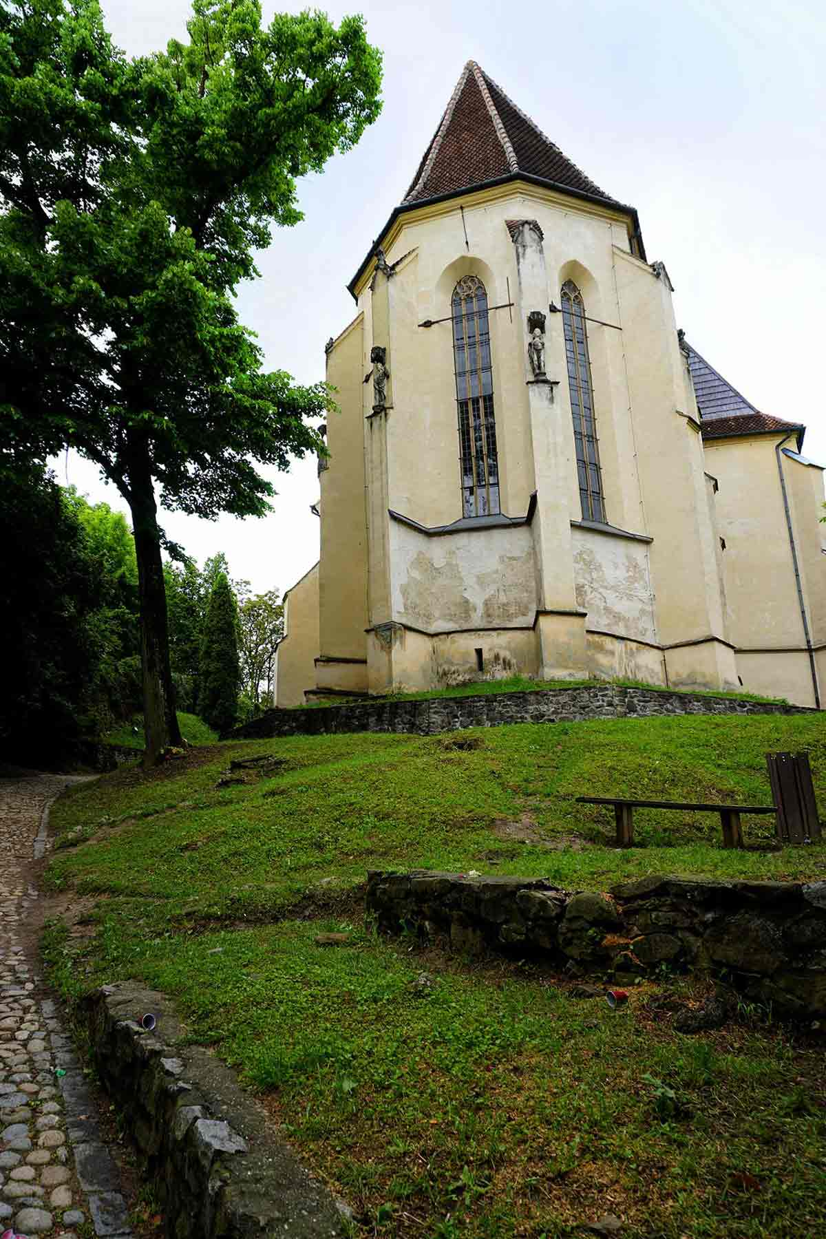 The church on the hill in Sighisoara.