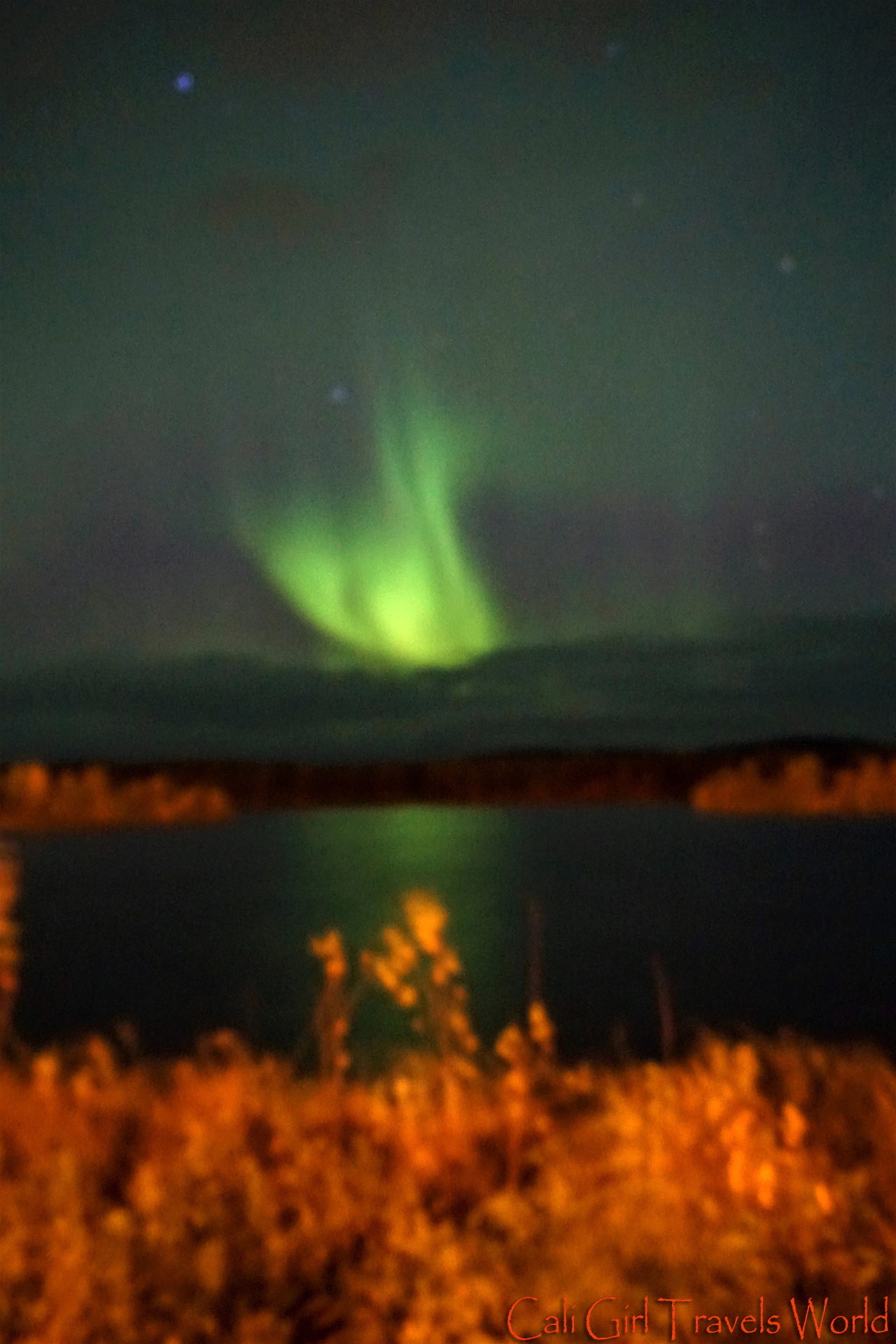 The first time I saw the northern lights in Lapland, Finland